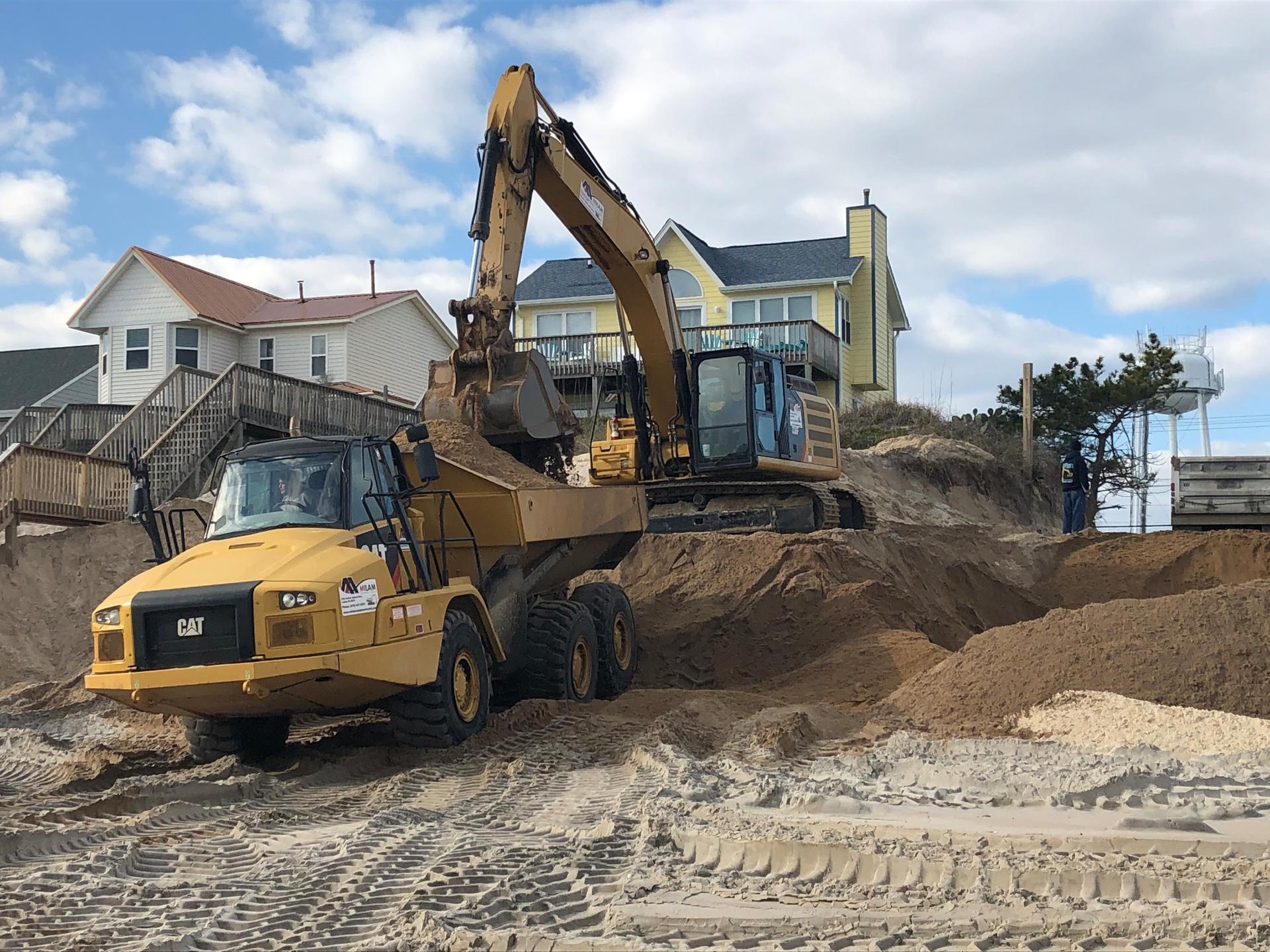 C.M. Mitchell Construction beach renourishment