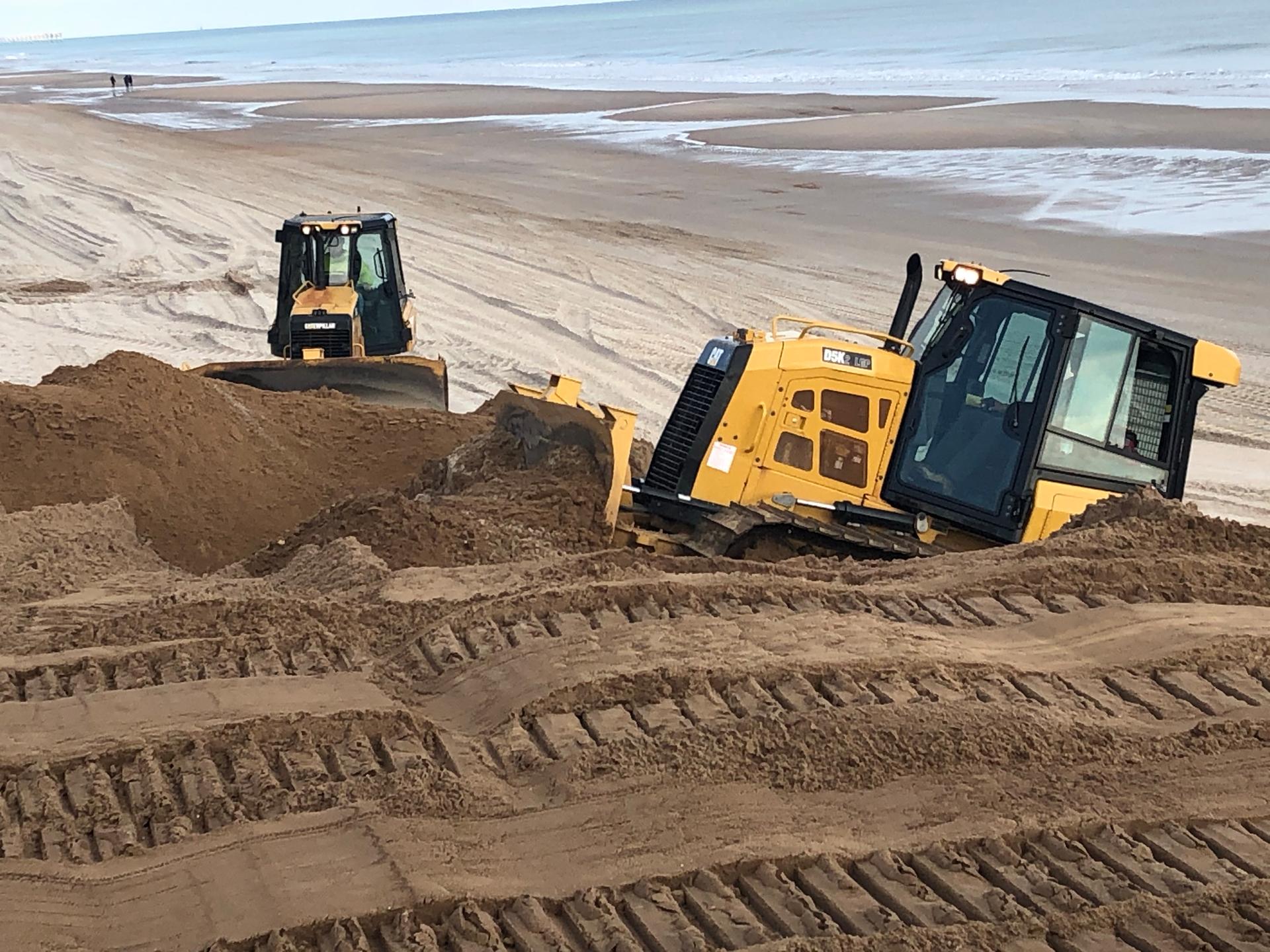 CM Mitchell construction dune restoration